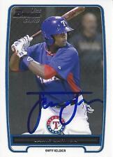Jamie Jarmon Texas Rangers 2012 Bowman Signed Card