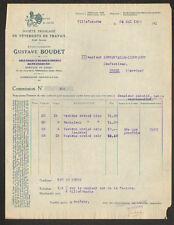 """VILLEFRANCHE (69) USINE de VETEMENTS de TRAVAIL """"Ets. Gustave BOUDET"""" en 1923"""