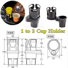 Universal Shockproof 1 to 2 Rotate Car Cup Holder Center Console Well Organizer