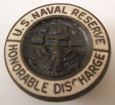US Naval Reserve Honorable Discharge Vintage Formal Shirt Stud Button gift