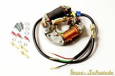 VESPA Zündgrundplatte komplett - 2 Spulen / 6V / Innen - V50 50N Special Zündung