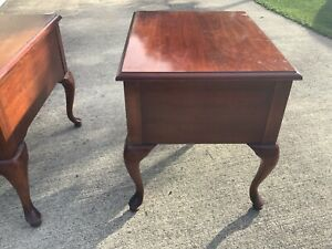 Vintage Cherry End Tables  or End Side Table, American Drew Furniture