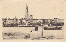 B80437 antwerpen anvers belgium vue panoramique prise de l esc  front/back image