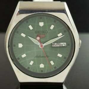 OLD VINTAGE SEIKO 5 AUTOMATIC 6309A JAPAN MENS DAY/DATE WATCH 473a-a237476-9