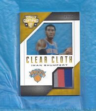 IMAN SHUMPERT 2014-15 TOTALLY CERTIFIED CLEAR CLOTH PATCH GAME USED RELIC #8/10