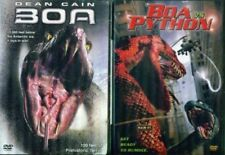 BOA 1 & 2: Boa vs Python-Giant Killer Snake Horror-Dean Cain- NEW 2 DVD