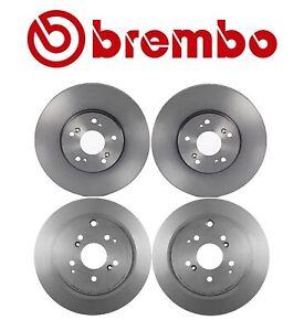For Honda Pilot 03-08 Two Front+Two Rear Disc Brake Rotors Kit Brembo OEM