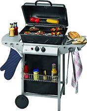 Griglia Grill a gas Barbecue rotelle Mobile con 2 Bruciatore Clatronic 3590
