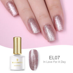 BORN PRETTY 6ml Soak off UV Gel Polish Glitter Sequins Thermal Nail Art Varnish