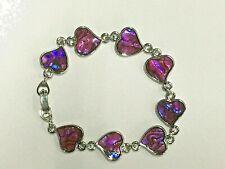 Pink Abalone Heart Bracelet