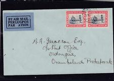 1935 Flugpost von Südwestafrika nach Onuongua in Südafrika mit Ankunftstempel