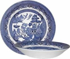 CHURCHILL BLUE WILLOW CEREAL SOUP GRAVY DINNER LUNCH BOWL OFFICE HOME SET OF 6