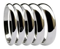 950 Palladium D Shape Wedding Bands Rings Heavy UK Solid HM 2 2.5 3 4 5 6 8mm