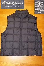 Eddie Bauer Men Classic Goose Down puffer vest jacket zip winter SKI HUNT EC XXL
