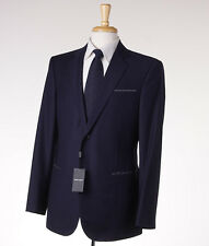 NWT $3595 GIORGIO ARMANI BLACK LABEL 'Wall Street' Navy Jacquard Wool Suit 42 R
