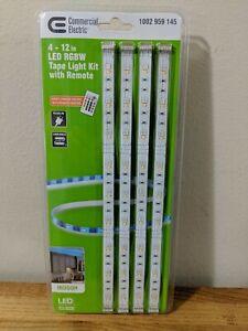 12 in. Linkable RGBW Indoor LED Flexible Tape Light Kit 4-Strip Pack