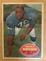 1960 Topps Football Card Roosevelt Brown #78 New York Giants