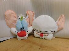 "Pinky & the Brain 18-24"" Vintage Pillow Head Plush Six Flags 1996"