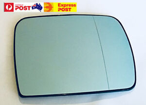 Right side mirror glass to suit BMW X5 E53 2000-2006 Blue Heated Convex base