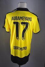 Borussia Dortmund Trikot Gr. L #17 Aubameyang Jersey 2015-16 Home BVB Shirt