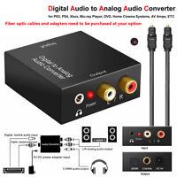 Converter Digital to Analog RCA to SPDIF For Amplifier Soundbar Speaker HDTV