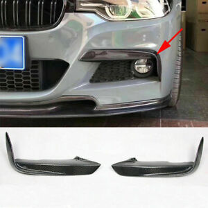 ABS Carbon Fiber Pattern Splitters Lip for BMW 3 Series F30 M Sport Sedan 13-17