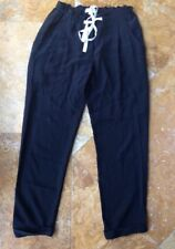 Wilfed 100% Silk Pajama Pants, Black, XS