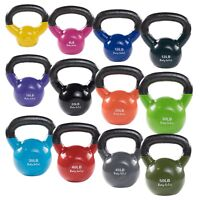 Body-Solid Vinyl Dipped Kettlebells - Color Coded KBV for Studio, Gym and Home