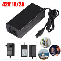 42V 1A 2A Universal Battery Charger Power Supply Adapter For  Scooter