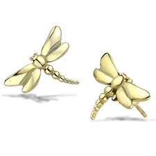Dragonfly Earrings Gold IP Stainless Steel Posts 15 mm x 10 mm Child or Adult