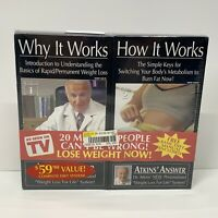 Atkins' Answer - Why it Works/How it Works Twin Pack VHS Brand NEW Sealed FS