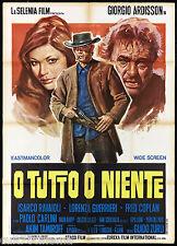 O TUTTO O NIENTE MANIFESTO CINEMA FILM ZURLI SPAGHETTI WESTERN MOVIE POSTER 2F