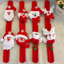 4PCS Christmas Watch Christmas Deer Snowman Elderly Clap Circle Wrist Decor Toy