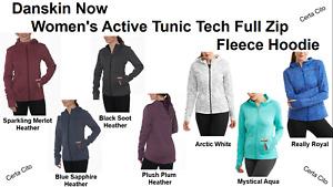 Danskin Now Women's Active Full Zip Fleece Hoodie, XS - XXXL, Multi Color