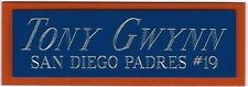 TONY GWYNN PADRES NAMEPLATE FOR AUTOGRAPHED Signed Baseball Display CUBE CASE
