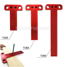 Woodworking Scribe T-type Ruler Hole Scribing Gauge Aluminum Crossed Feet Tool