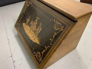 Vintage Mentone Wooden  Letter Rack / Stationery Box /Desk