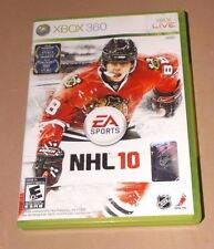 NHL 10 (Microsoft Xbox 360, 2009) w/Hologram & Instructions - Disk is Clean