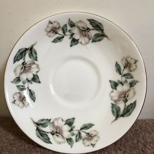 Crown Staffordshire tea service floral pear blossom Spare / replacement saucer