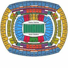 New York Giants NJ State/Province Sports Tickets