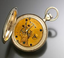Rockford Pocket Watch 11-Jewel Gilt Movement 18-Size in 3 oz. Coin Silver Case
