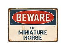 "Beware Of Miniature Horse 8"" x 12"" Vintage Aluminum Retro Metal Sign VS278"