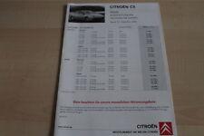 119065) Citroen C5 - Preise & tech. Daten & Ausstattungen - Prospekt 12/2005