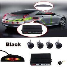 New LED 4 Parking Sensors Autos Reversing Backup Radar Alarming Kit With Drill