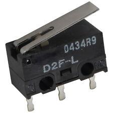 2 OMRON D2F-L Mikroschalter 125V AC 3A 1xUM 1,47N Hebel 12,6x6,5x5,8mm 855627