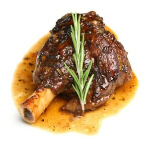 Organic Lamb Shank In an all-nature DEMI GLAZE 14-17 0Z Fully Cooked  US SELLER