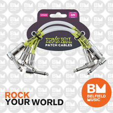 Ernie Ball 6051 Ultraflex 3 x 6inch (15cm) White Patch Cables Angle / Angle Lead
