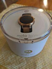 Motorola Moto 360 2nd Gen Rose Gold Leather Smartwatch