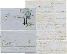 RUSSIA UKRAINE 1860 ENTIRE LETTER 11 HANDSTAMP + BOXED P.35 + ODESSA DIAMOND
