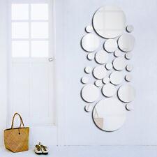 3D Rund Spiegel Wandtattoo Wandsticker Wandaufkleber DIY selbstklebend Wand Deko